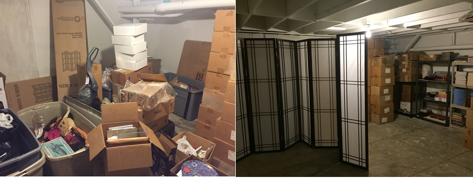Before & After: Retail Basement-Entryway