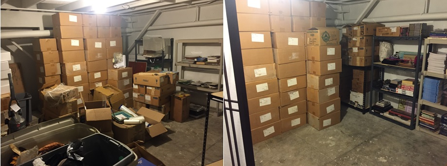 Before & After: Retail Basement-Storage Area
