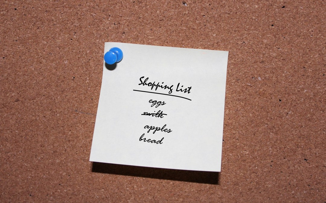 2 Minute Tip:  SHOPPING LIST