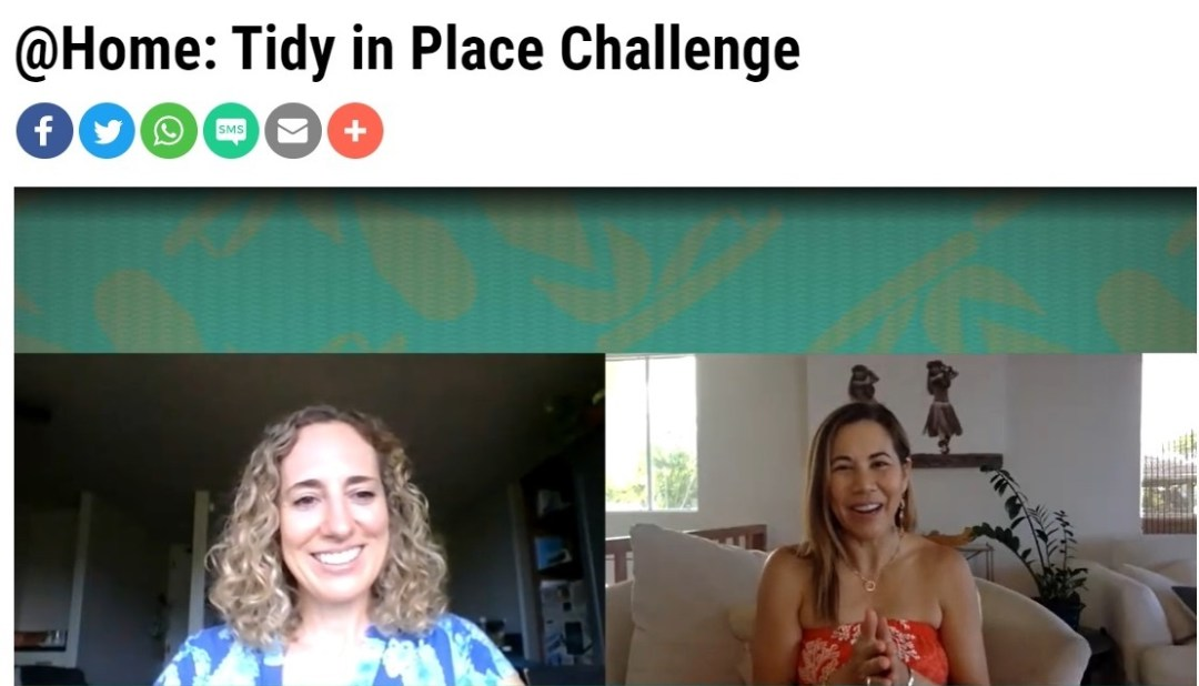 Nancy's interview with Living808 on the Tidy-in-Place Challenge