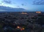 Toledo: Night-light city-view from La piedra