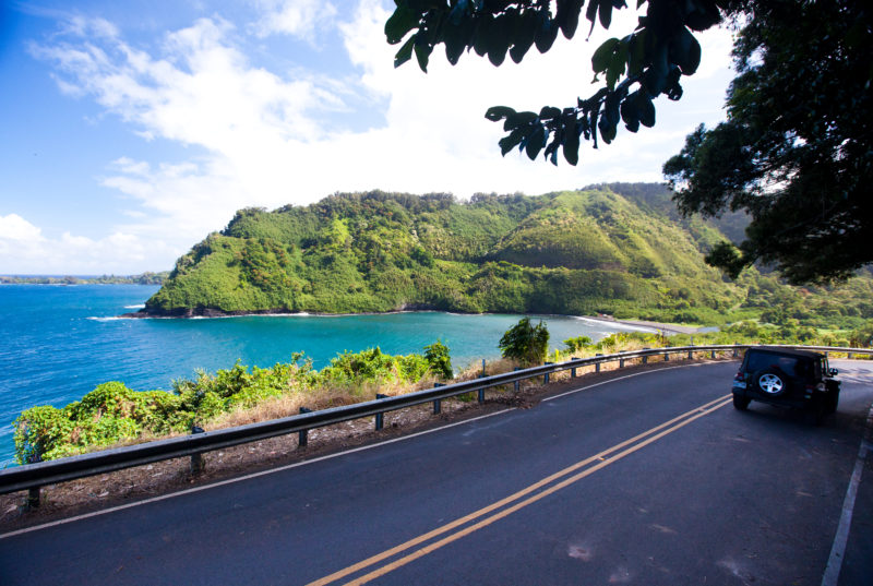 Amazing ocean and forest views on the road to Hana.