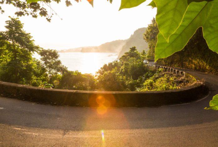 Road to Hana: Hairpin turn. Hawaii travel. Things to do in Maui. Things to do in Hawaii.