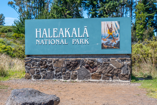 Haleakala National Park: Welcome sign. Hawaii travel. Things to do in Maui. Things to do in Hawaii.