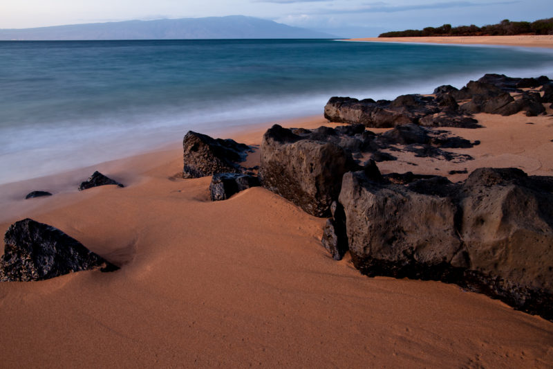 The romantic Polihua beach.