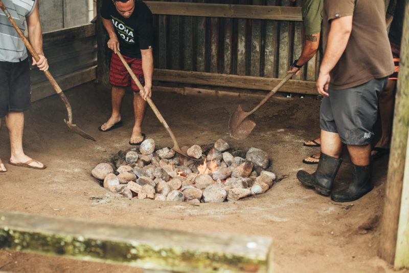 Preparing hot rocks in the imu.