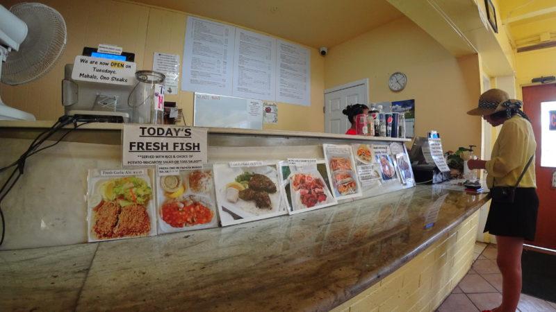 Menu at Ono Steaks and Shrimp Shack.