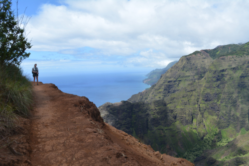 An average June day in Kauai in Kokee State Park with a view of the Na Pali coast. Editorial credit: Clau De / Shutterstock.com