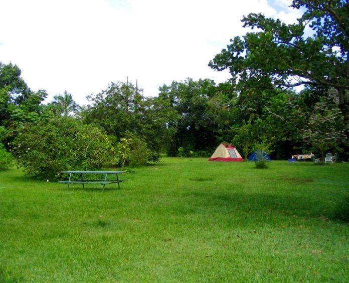 Hoomaluhia Botanical Garden camping.