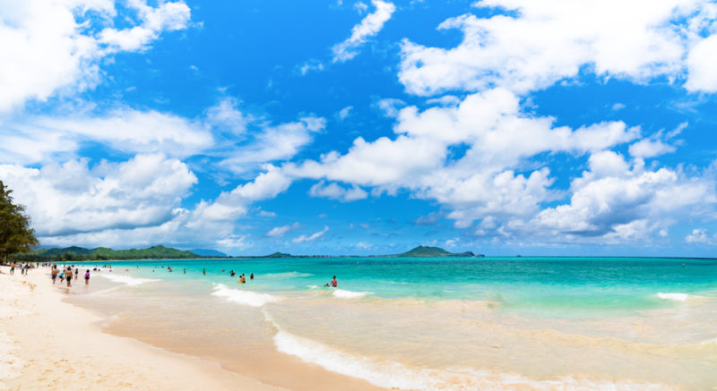 150 Things To Do On Oahu - Enjoy the sand at Kailua beach.
