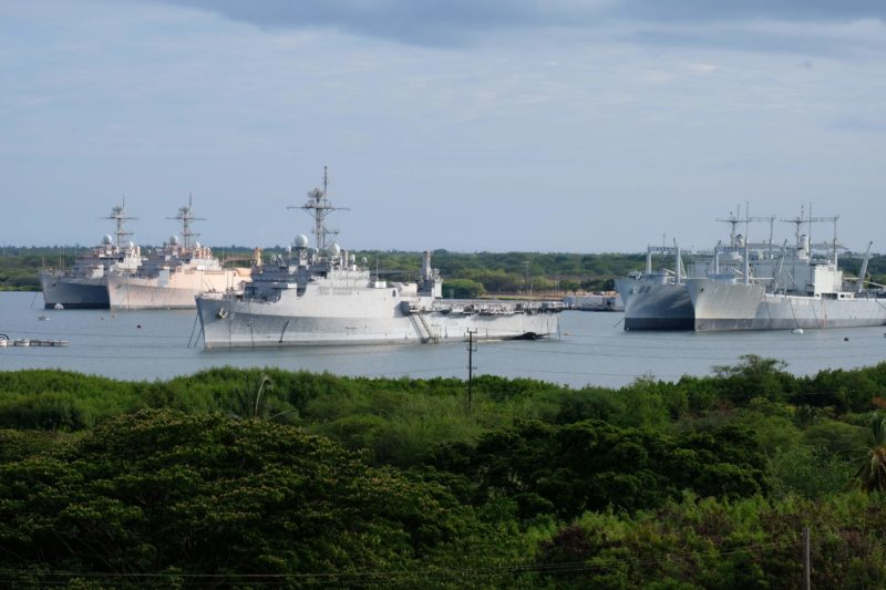 The Best Lookout For Pearl Harbor Ships Is At Leeward Community College - Pearl Harbor ships