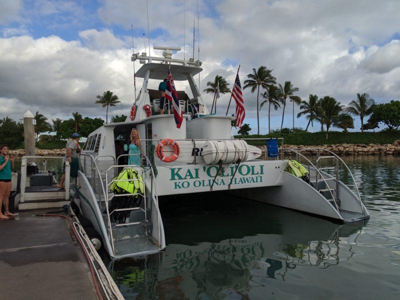 Boarding the Kai Oli Oli