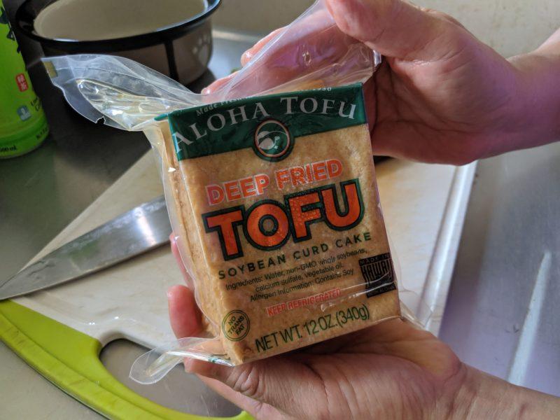 Deep-fried tofu.