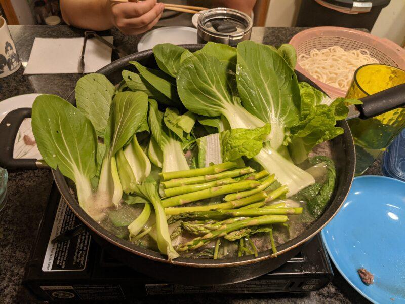 Bok choy is great for shabu shabu in the winter.