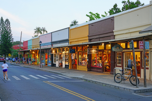 Lahaina is filled with historic buildings, was a former missionary town and capital of Hawaii before Honolulu. It was also the center of the global whaling industry on the island of Maui. Editorial credit: EQRoy / Shutterstock.com
