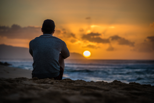 Watching the sun go down at Sunset Beach, North Shore, Oahu.