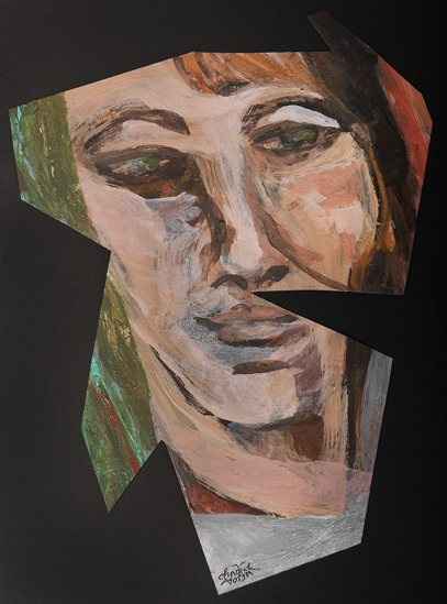 Pam Chadick Aloisa. Quiet Reflection. Acrylic on paper.