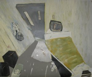Pam Chadick Aloisa. Todd's Cell Acrylic on paper