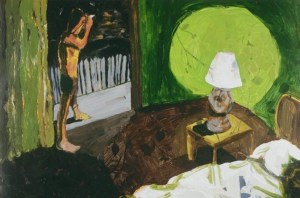 Pam Chadick Aloisa. On-the-Balcony-painting.