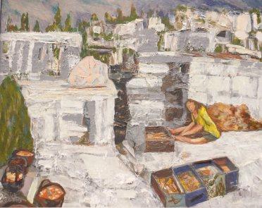"""Classical Site"" Acrylic on canvas board. (2013) 22 1/2"" x 19"" Framed"