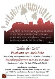 """Plakat für Ausstellung °Zahn der Zeit"""""""