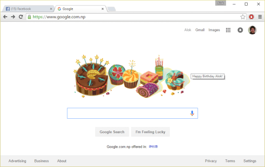 Birthday wishes from Google!