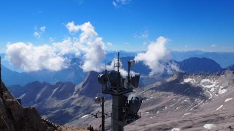 Blick von der Aussichtsplatform in Richtung Alpen/Österreich