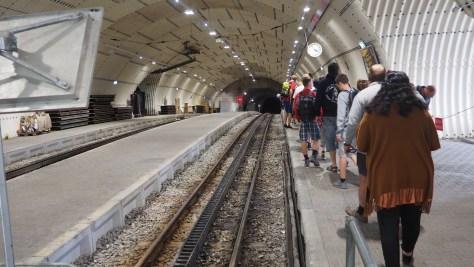 Oberes Tunnelportal der Zahnradbahn