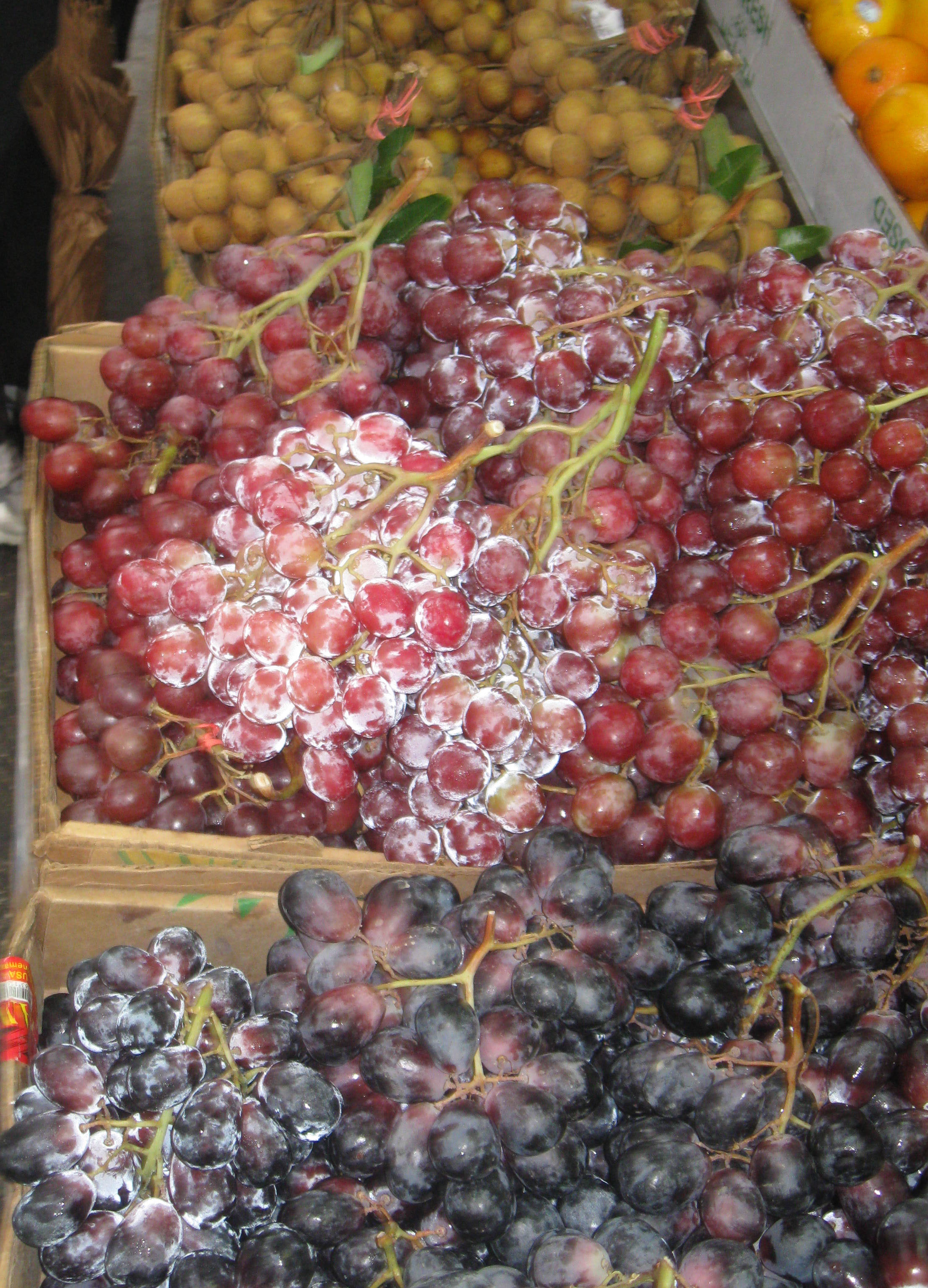 grapes and lychees