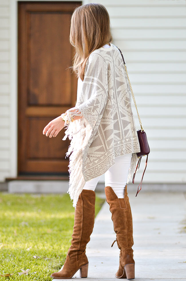 nordstrom anniversary sale, over the knee boots, dolce vita boots, dolce vita over the knee boots, white jeans and boots, summer sweater, oxblood bag, rebecca minkoff oxblood bag, southern style, fall style, preppy girl, college blogger
