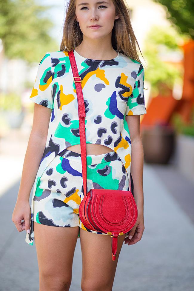 teen vogue back to school, matching shorts and shirt, coordinates, chloé marcie small cross body, red chloé marcie crossbody, stewart weitzman the nudist heels, dallas fashion blogger, austin fashion blogger, college girl blog, sorority girl blog