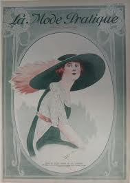 1912 Ad showing hat and dress