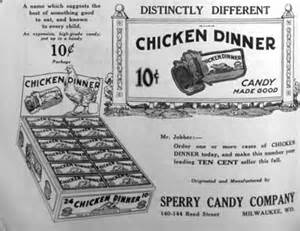 1924 Chicken Ad in Confectionars Journal