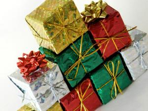 Christmas began to become about gift giving