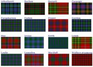 Sampling of Scottish Tartans