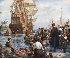 Pilgrims said goodbye to friends and loved ones and left Leiden to return to England for the New World