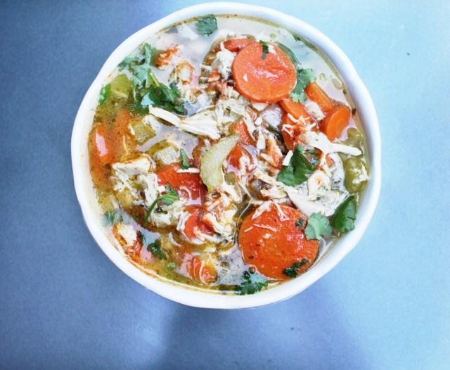 Mom's Chicken Soup recipe via A Lo Profile (www.aloprofile.com)