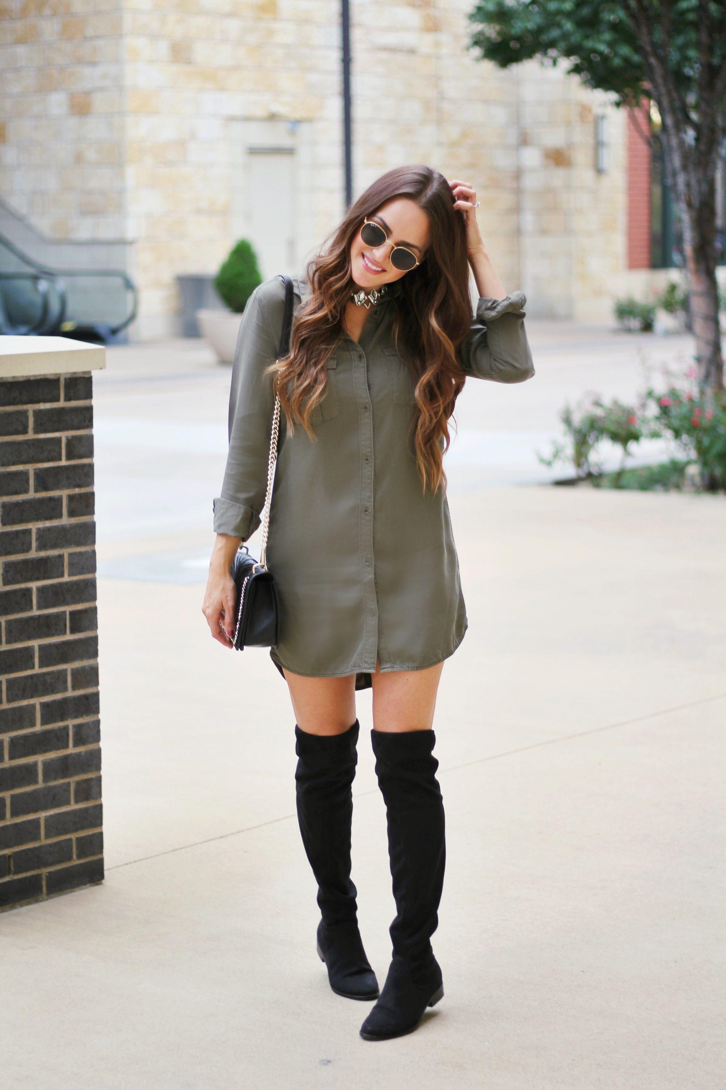 Military Shirt Dress Otk Boots A Lo Profile