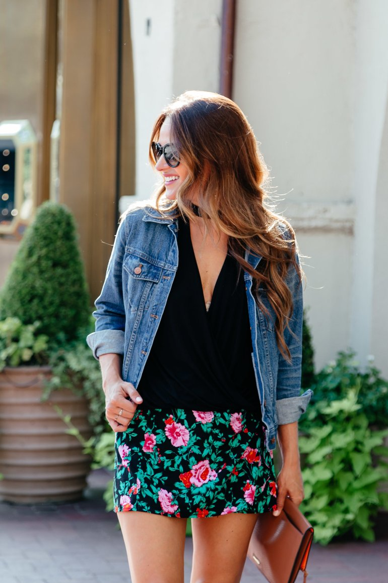 How to transition mini skirts for Fall via A Lo Profile.