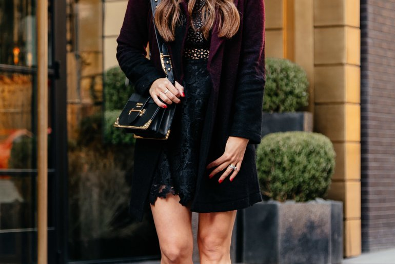 Little Black Lacey Dress & Ombre Coat via A Lo Profile. Click through to shop tons of other options!