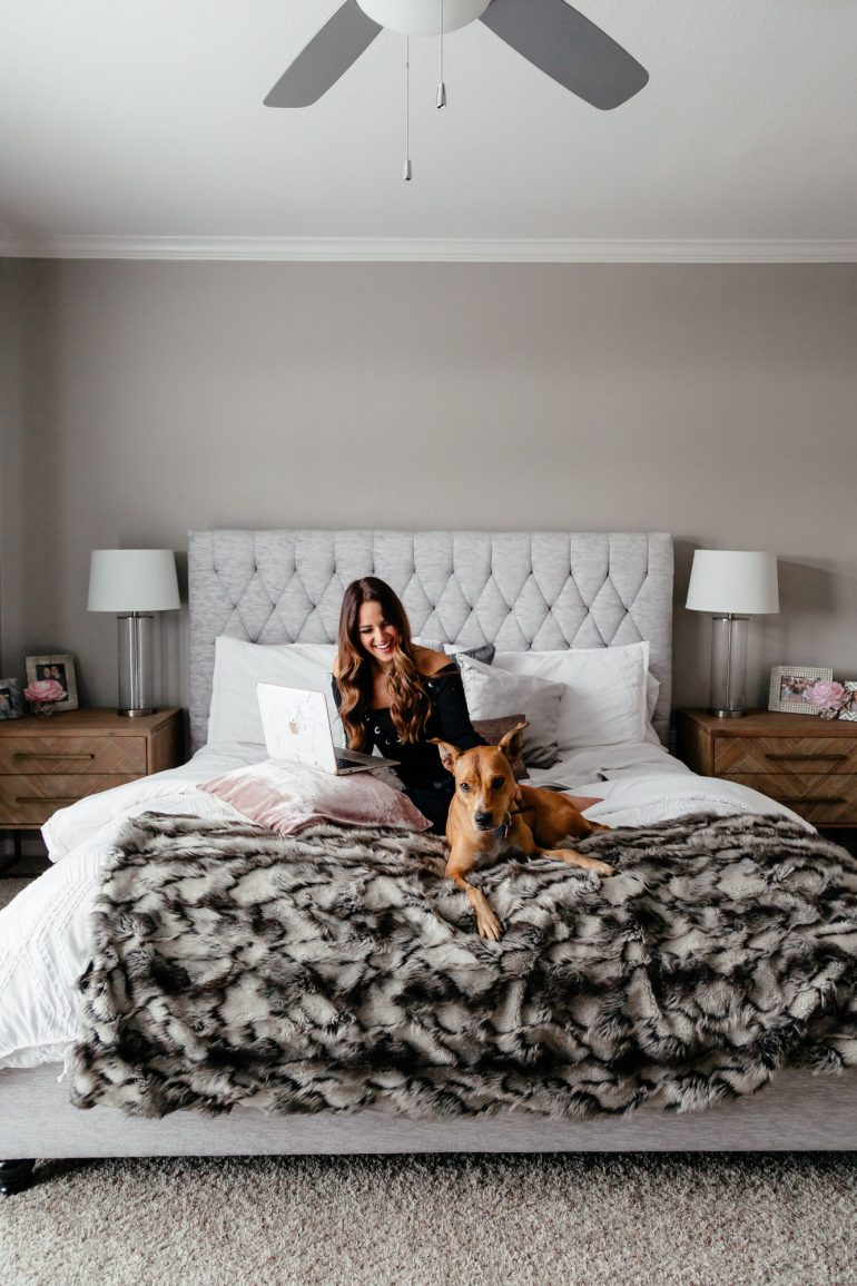Bedroom Update with Overstock + how many husband and I compromise on furniture that we love and that doesn't break the bank.