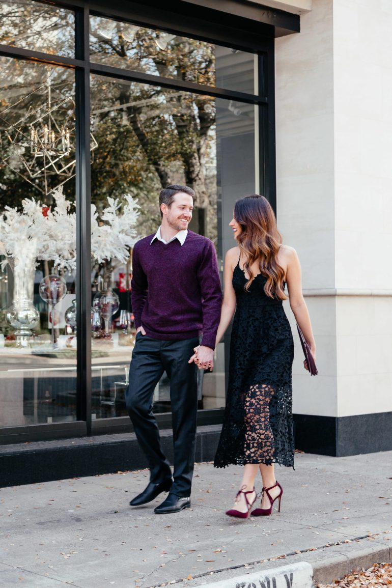 His and her holiday looks with Nordstrom via A Lo Profile.
