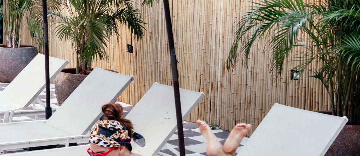 A Lo Profile by the pool at the Clinton Hotel in Miami