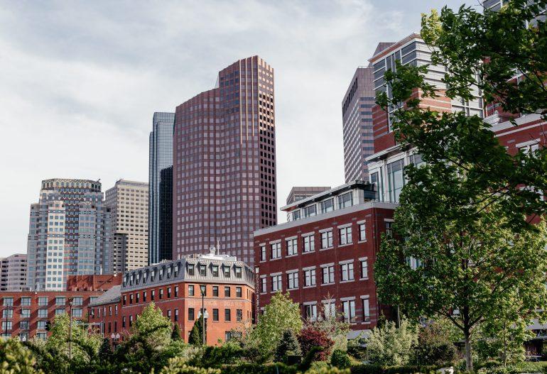 Boston City view from the park via A Lo Profile's Boston Travel Guide