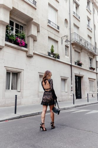 Backless LBD. Backless Little Black Dress. Little Black Dress. LBD in Paris. Backless LBD in Paris. Little Black Dress in Paris. For Love and Lemons Dress. For Love and Lemons Black Dress.