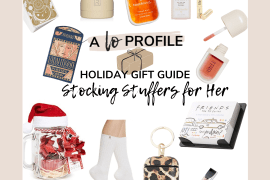 Stocking Stuffers for Him collage featuring gifts mostly around $25