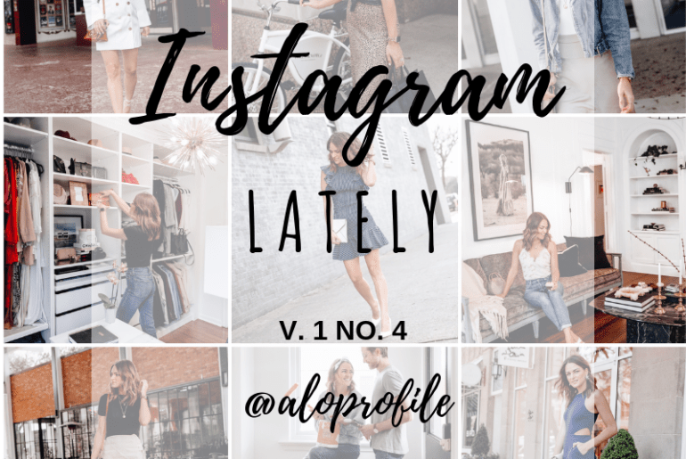 Sharing everything I shared in April in one easy to shop April Instagram roundup post including some exclusive content & sizing information.