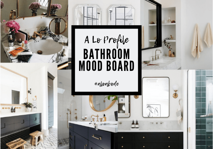 Sharing some Guest Bathroom Inspo Pics that make up our Hall bathroom mood board for our renovation and my reasons why I make mood boards.