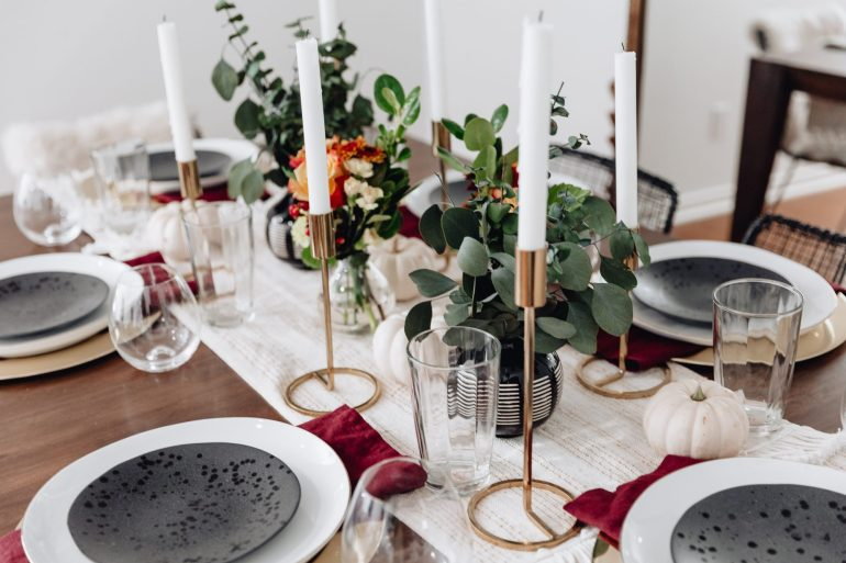 Sharing an easy, but beautiful Fall tablescape idea including a video of how I styled our dining table, as well as links for all the products I featured.