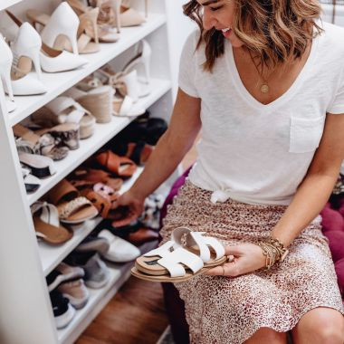 Sharing a roundup of the cutest spring sandals under $50 including flats, heels, & wedges in all styles, colors, & price ranges.